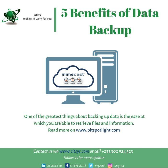 5 Benefit of Data Backup